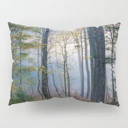 Mystic Forest - Early Morning Glow in Smoky Mountains Pillow Sham