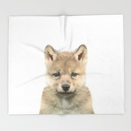 Baby Wolf Throw Blanket