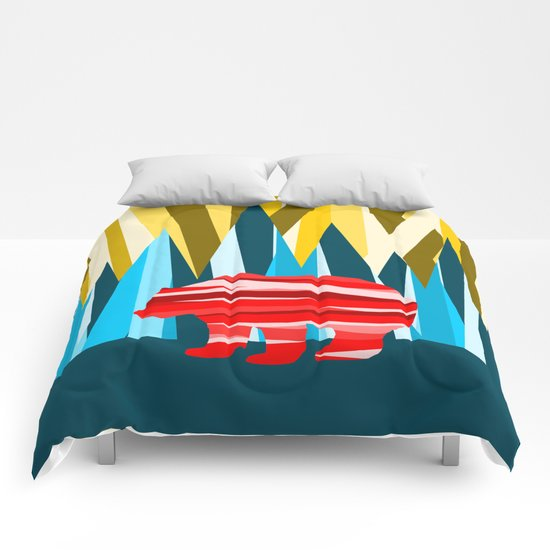 Abstract lines Bear Comforters