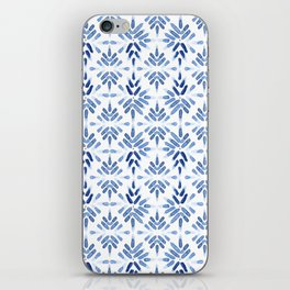 Blue and White Tile iPhone Skin