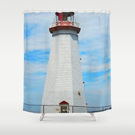 North Cape Lighthouse Shower Curtain