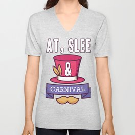 Eat sleep carnival | New Orleans | Mardi Gras Unisex V-Neck