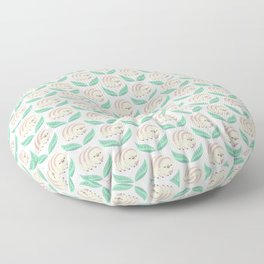 Kawaii tardigrade Floor Pillow