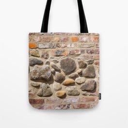 Brick and stone wall Tote Bag
