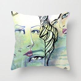 Fridalicious by Jane Davenport Throw Pillow