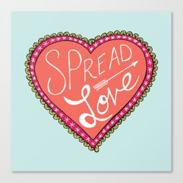 spread love heart Canvas Print