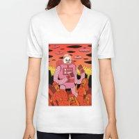 invader zim V-neck T-shirts featuring Alien Invader  by Jack Teagle