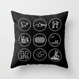 Floyd covers Throw Pillow
