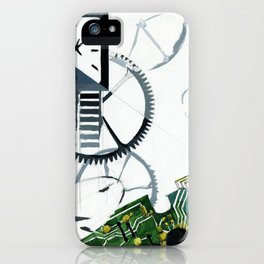 Poster composition dedicated to the clock and time. iPhone Case