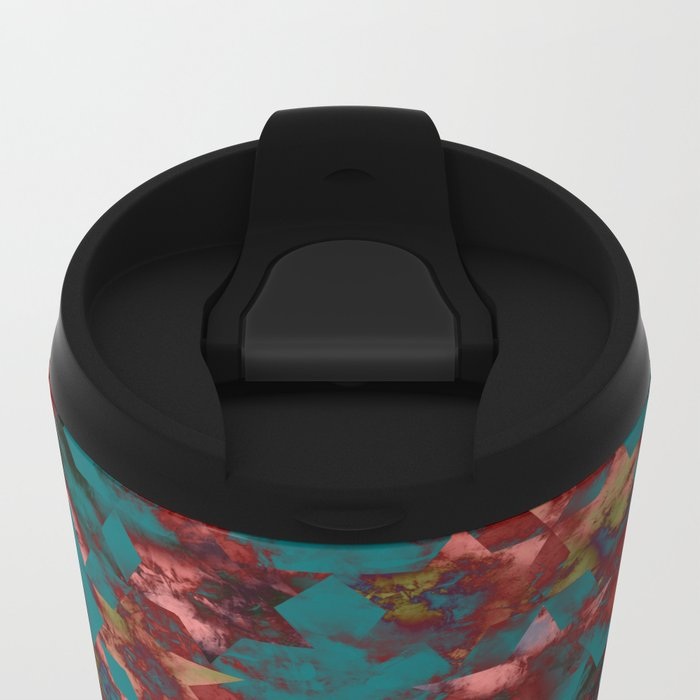 Abstract 1 Metal Travel Mug