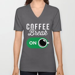 Coffee Break On Unisex V-Neck