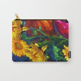 Sunflowers & fruit Fall Still Life Painting Carry-All Pouch