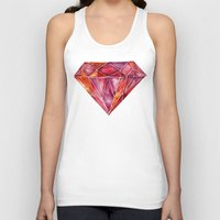 geode Tank Tops featuring Million-Carat Ruby by Cat Coquillette
