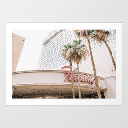 Flamingo Hotel Art Print