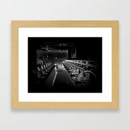 Darkside of the Laundry-mat Framed Art Print
