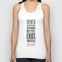 oscar wilde Tank Tops featuring Lab No. 4 - Oscar Wilde Motivational inspirational typography print Poster by Lab No. 4