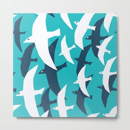 Seagulls, seamless pattern Metal Print