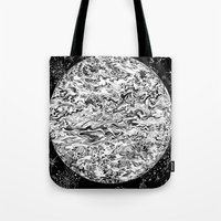 planet Tote Bags featuring PLANET by B. STIEGLER