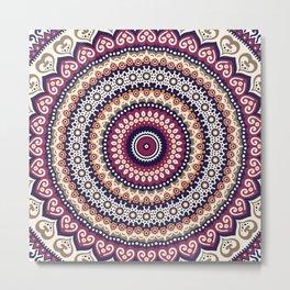 Mandala Flower Bohemian Gypsy Soul Metal Print