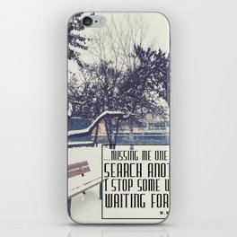 Waiting for You iPhone Skin