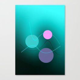 The 3 dots, power game 2 Canvas Print