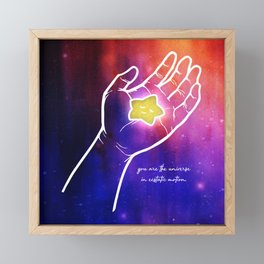 You are the universe in ecstatic motion Framed Mini Art Print