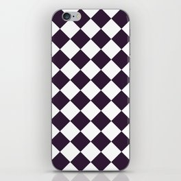 Large Diamonds - White and Dark Purple iPhone Skin