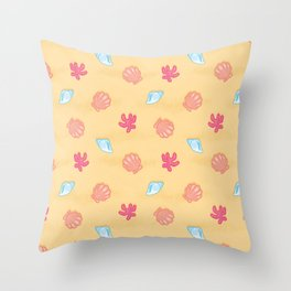 Seashells (Sand) Throw Pillow