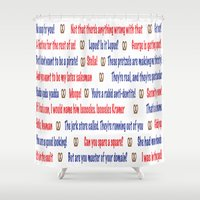 seinfeld Shower Curtains featuring Seinfeld quotes by Dr. Spaceman40