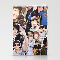 liam payne Stationery Cards featuring Liam Payne - Collage by Pepe the frog