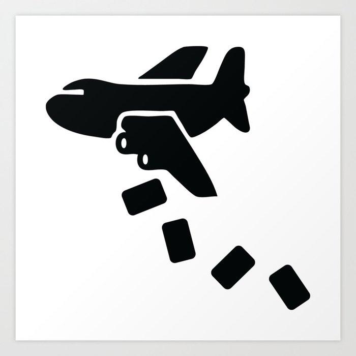 Cargo Airplane Supply Drop Art Print