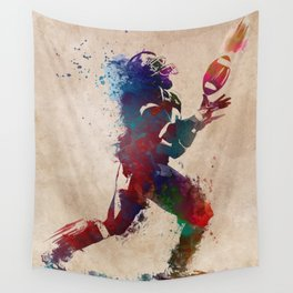 American football player 2 Wall Tapestry