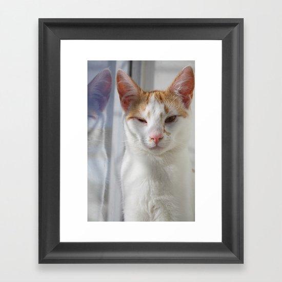 Wink Framed Art Print