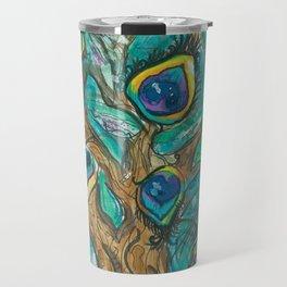A Plummage of Possibility Peacock Tree Travel Mug