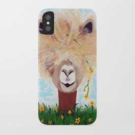 Llama with Flower iPhone Case