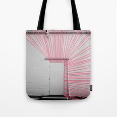 White Door, Red-Pink Prism Tote Bag