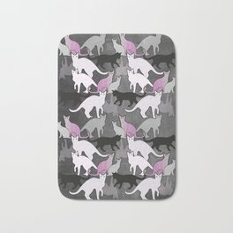 cat pattern Bath Mat