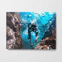 Diving in Spain Metal Print