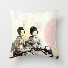 Bench Float Throw Pillow