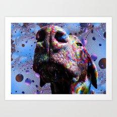 Chocolate Lab Nose Art Print