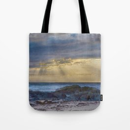 Sunset and God beams - watercolour Tote Bag