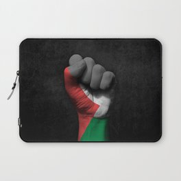 Palestinian Flag on a Raised Clenched Fist Laptop Sleeve