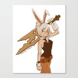 Bunny Riven Canvas Print