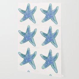 Bluegreen Starfish Wallpaper