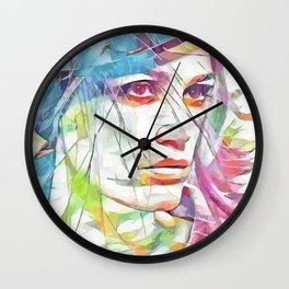 Yasmin Le Bon (Creative Illustration Art) Wall Clock