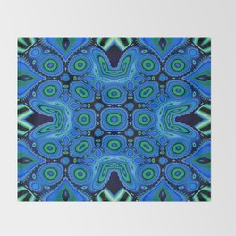 Diving Into The Blue Abstract Pattern Throw Blanket