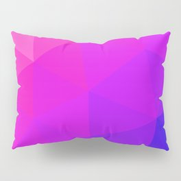 Magenta and Violet Low Poly Pattern Pillow Sham