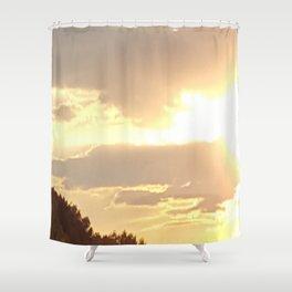 Yellow Sunset Shower Curtain