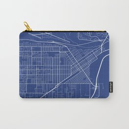 Billings Map, USA - Blue Carry-All Pouch