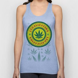 100% Smokin' Cannabis - Legalization - 100% Smokin' Cannabis Unisex Tank Top